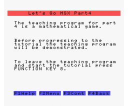 Let's Go MSX - Part 4 (1984, MSX, SoftCat)