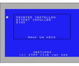 Etiketten Editor (1989, MSX2, Club van Zes)