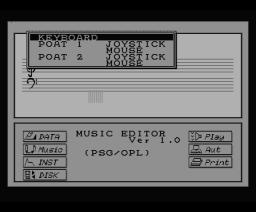 Music Editor v1.0 (1988, MSX2, Winky Soft)