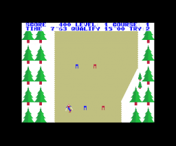 Trial ski (1984, MSX, ASCII Corporation)