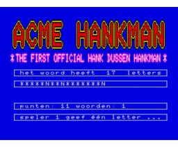 Hankman (1991, MSX2, Hank Dussen Programeursgroep)