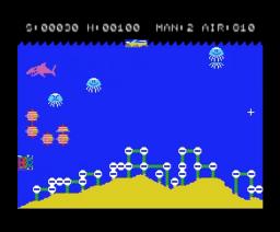 Sea Bomber / HELP! (1983, MSX, Hudson Soft)