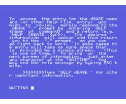 dBASE II (1983, MSX, Ashton-Tate)