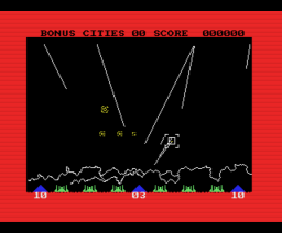 Missile Command (1988, MSX, Eurosoft)