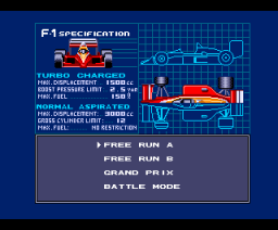 F-1 Spirit 3D Special (1988, MSX2+, Konami)