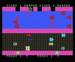 Les Voitures dans Autoroute (MSX, Infogrames)