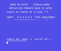Base de Datos (1985, MSX, DIMensionNEW)