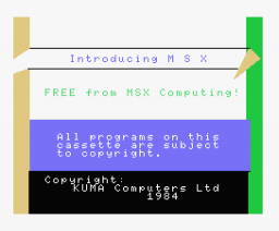 Introducing MSX (1984, MSX, Kuma Computers)