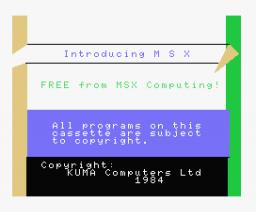 Introducing MSX (1984, MSX, Kuma Computers)