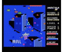 Mecha 9 (2015, MSX, MSX2, Óscar Toledo Gutiérrez)