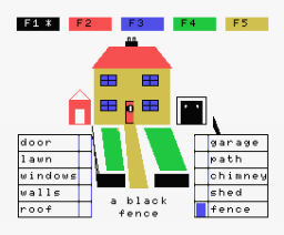 Fun Words Side 4 - Houses (1984, MSX, SoftCat, AMPALSOFT)