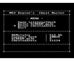 Cheatmaster (1992, MSX2, MSX-Engine)