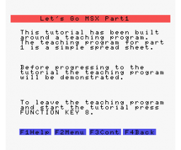 Let's Go MSX - Part 1 (1984, MSX, SoftCat)