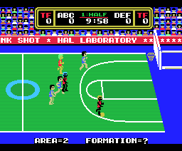 Dunk Shot (1986, MSX, HAL Laboratory)