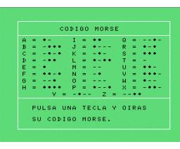 Codigo Morse (1985, MSX, Infopress)
