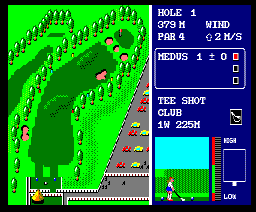 World Golf (1985, MSX2, ENIX)