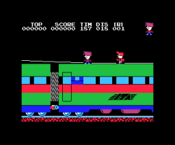Stop the Express (1984, MSX, Hudson Soft / Japanese Softbank)