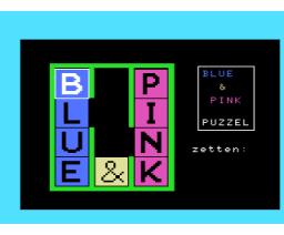 Blue & Pink Puzzel (1985, MSX, MSX Computer Magazine (NL))