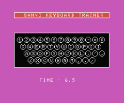 Typing Tutor (1985, MSX, Knights Computers)