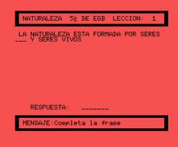 Ciencias de la Naturaleza 5º EGB (1985, MSX, Anaya Multimedia)
