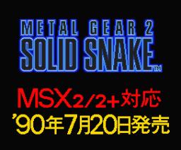 Metal Gear 2 - Solid Snake (Demo Version) (1990, MSX2, Konami)
