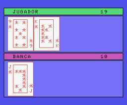 Blackjack (1985, MSX, DIMensionNEW)