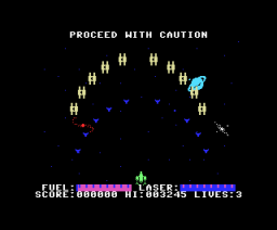 Alpha Blaster (1984, MSX, Aackosoft, Livewire)