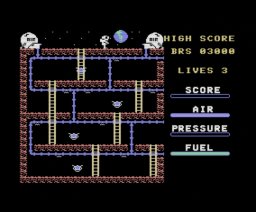 Astro Plumber (1985, MSX, Blue Ribbon Software)