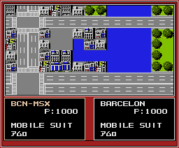 MS Field Mobile Suit Gundam (1988, MSX2, Family Soft)