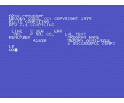 NEVADA COBOL (1985, MSX, Hisoft)