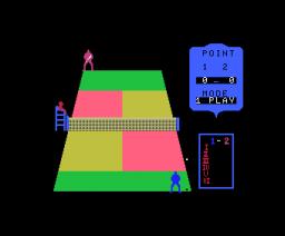 Real Tennis (1983, MSX, Takara)