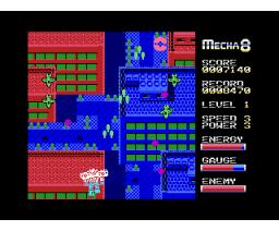 Mecha 8 (2012, MSX, MSX2, Óscar Toledo Gutiérrez)