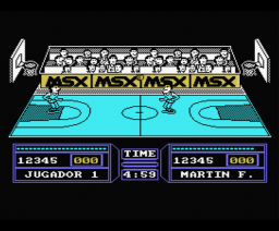 Fernando Martí­n Basket Master Executive Version (1987, MSX, Dinamic)