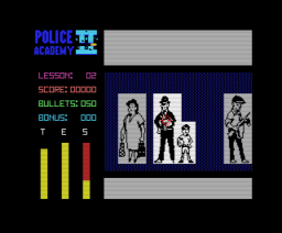 Police Academy II (1987, MSX, Methodic Solutions)