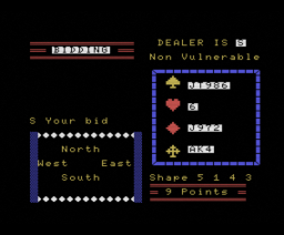 Contract Bridge (1984, MSX, Alligata)