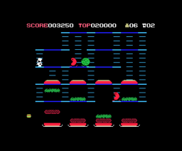 Burger Time (1986, MSX, Data East)