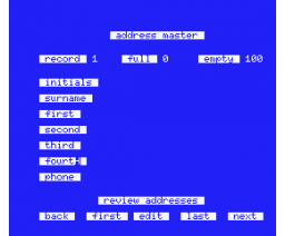 MSX Address Master (1985, MSX, James Ralph)