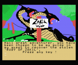 Zakil Wood (1985, MSX, Mr. Micro)