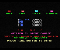 Oh No! (1985, MSX, The Bytebusters)