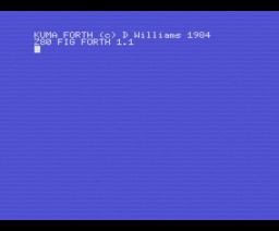 Kuma Forth (1984, MSX, D. Williams)