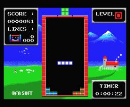 Fa Tetris (1989, MSX, Fa Soft)