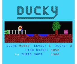 Ducky (1986, MSX, Turbo Soft)