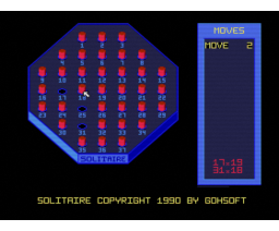 Solitaire (1990, MSX2, Gohsoft)