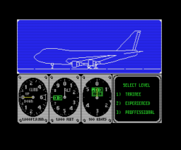 747 400b Flightsimulator (1988, MSX, Methodic Solutions)