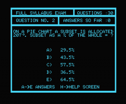 Maths 'O' Level Examiner (1984, MSX, Shield Software)