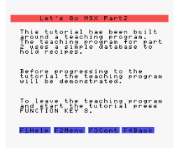 Let's Go MSX - Part 2 (1984, MSX, SoftCat)