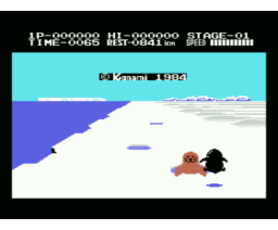 Antarctic Adventure (1984, MSX, Konami)