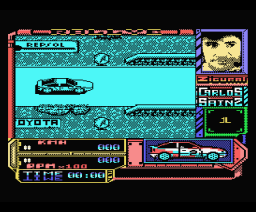 Carlos Sainz - Campeonato del Mundo de Rallies (1990, MSX, Zigurat)