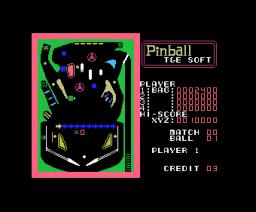 Pinball (1984, MSX, T&ESOFT)