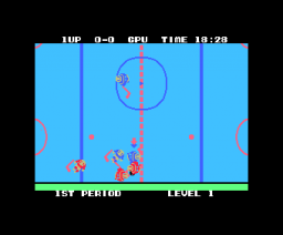Champion Ice Hockey (1986, MSX, Sega)